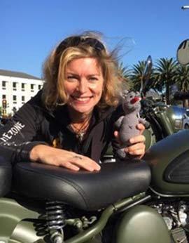 Afrikabiker Sabine Kastner