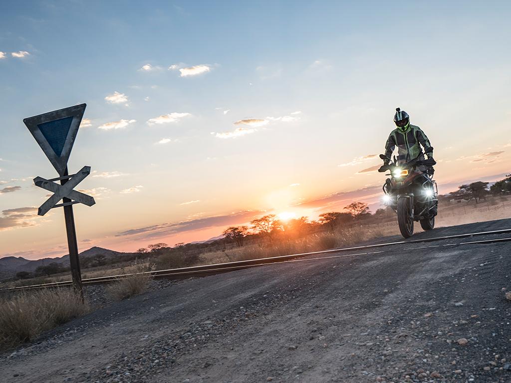Afrikabiker Motorradfahrer auf Motorradreise in Namibia