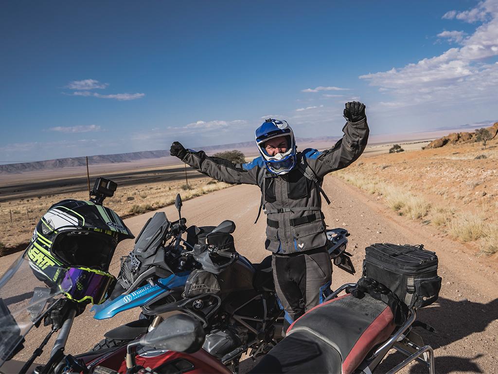 Pure Lebensfreude auf unserer Motorradreise in Afrika