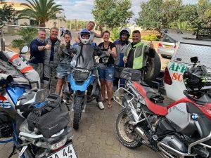 Reisegruppe Motorradreise von Afrikabiker in Namibia