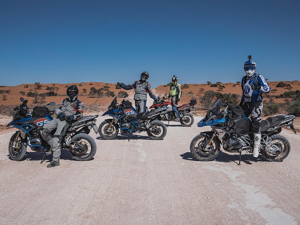 Motorrad Reisegruppe in Namibia mit Wunderlich und Afrikascout