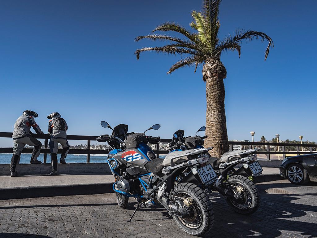 Pause auf der Motorradtour in Namibia mit Afrikabiker