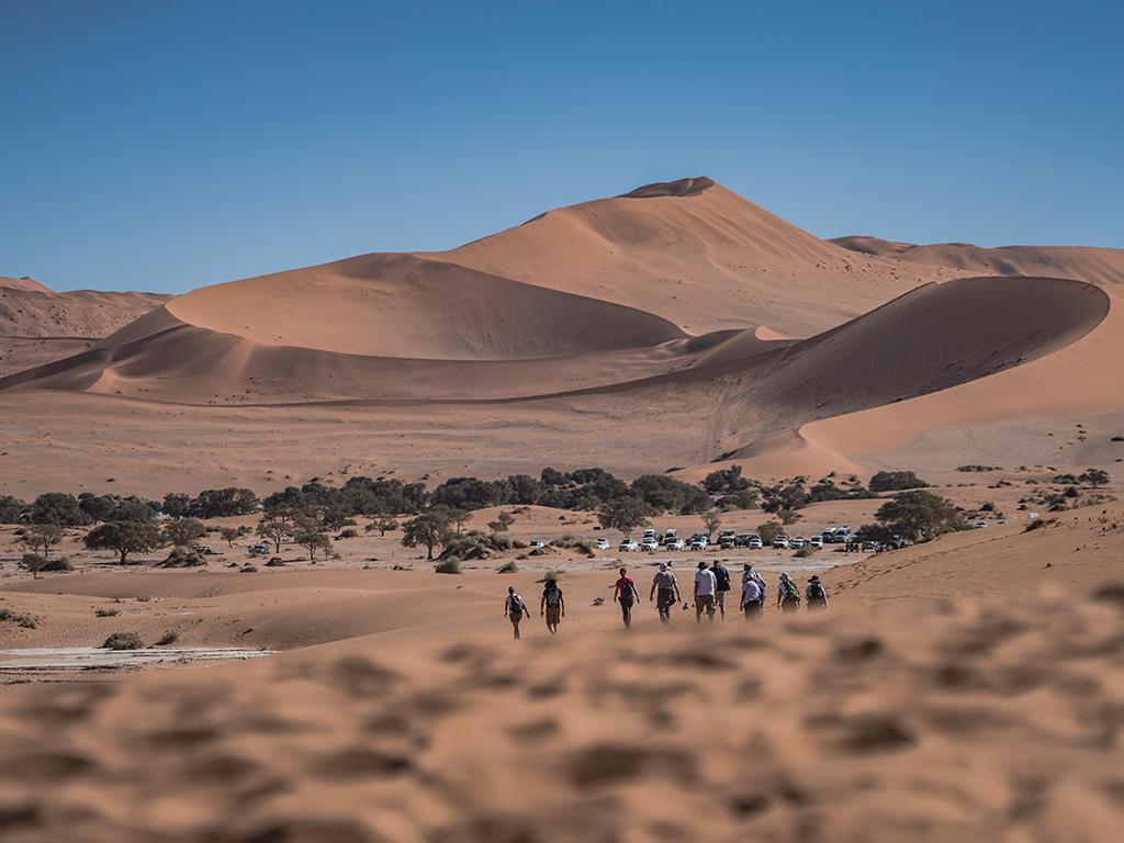 Afrikascout Reisegruppe im Sossusvlei in Namibia